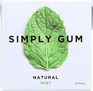 product image for Simply Gum All Natural Gum - Mint - Pack of 12 - 15 Count