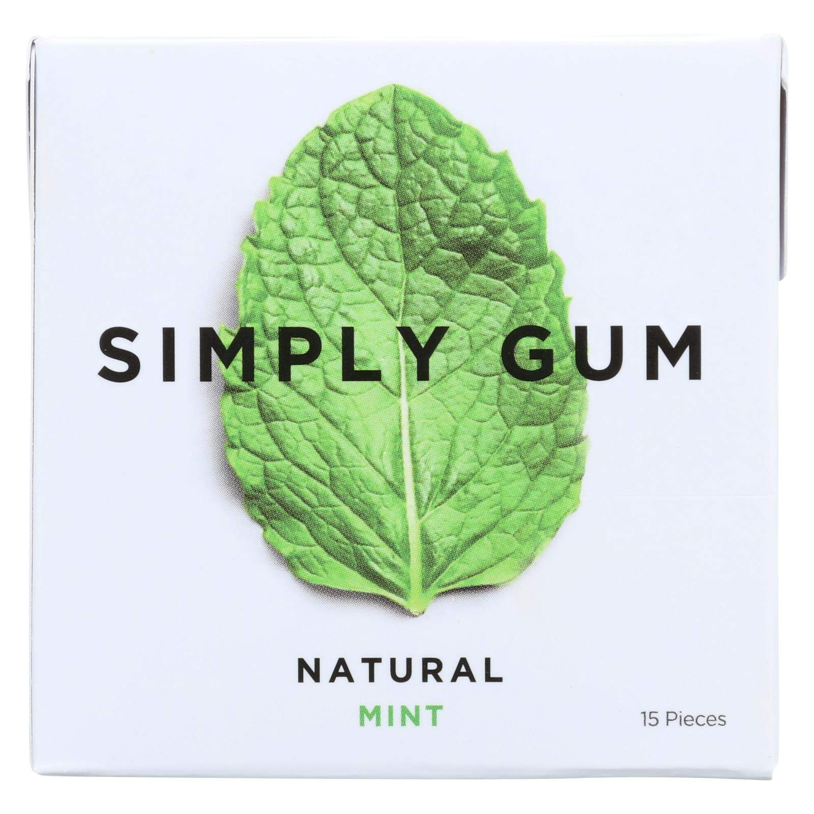 Simply Gum All Natural Gum - Mint - Pack of 12 - 15 Count by Simply Gum