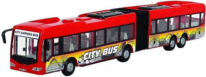Dickie Toys  City Express Bus Gelenkbus Auto Fahrzeug Spielzeugauto Kinder Stadt Spielzeugautos