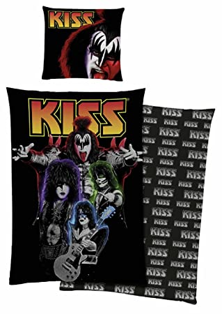 Kiss Bettwäsche Bandfoto Rock 100 Baumwolle Ca135 X 20080 X 80 Cm