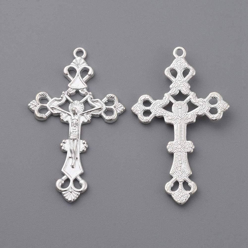 20PCS Alloy Mixed Tibetan Silver Cross Charms Pendant For Jewelry Bracelet DIY