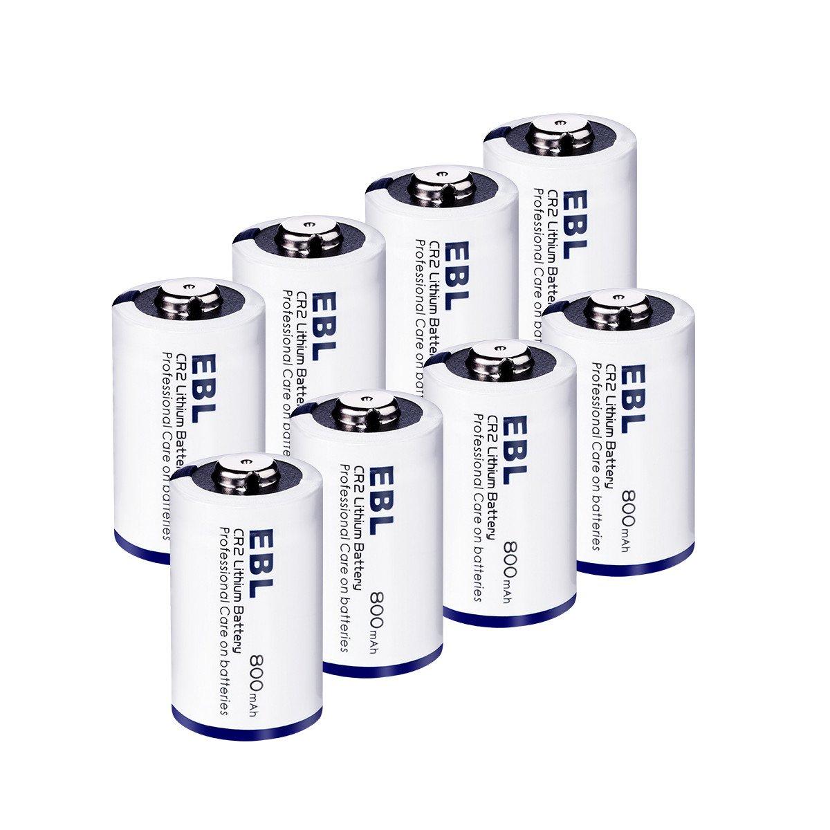 EBL CR02 800maAH batería de lito 3V- para Linterna Cámara Digital Videocámara Juguetes Antorcha