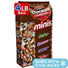 SNICKERS, TWIX, MILKY WAY & 3 MUSKETEERS Minis Size Chocolate Halloween Candy Bars Variety Mix, 67.2-Ounce 240-Piece Bag