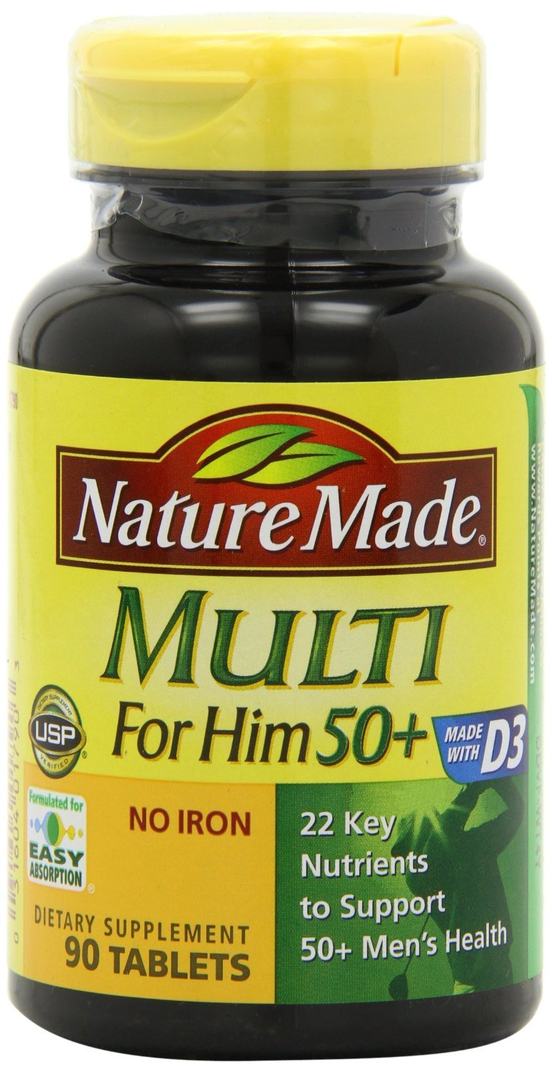 Amazon.com: Nature Made Multi For Her 50+ Multiple Vitamin and Mineral, 90 Tablets: Health