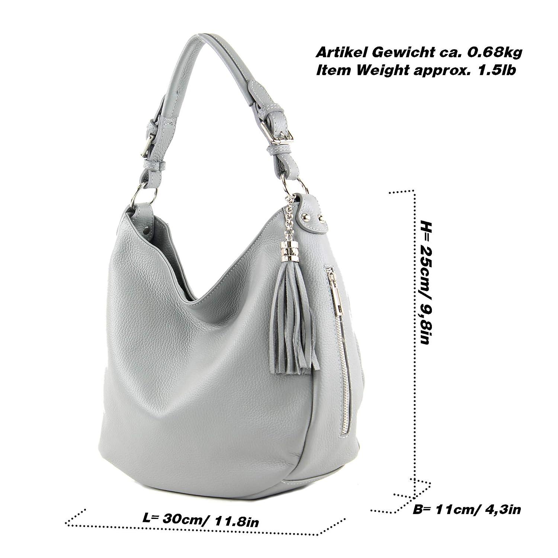 modamoda de - T200 - ital axel/axelväska gjord av läder Camel