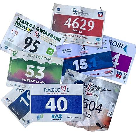 BIBPOCKET INSERT Race Lätzchen Display Race Fotos Protector Sheets Bibfolio Medaillen
