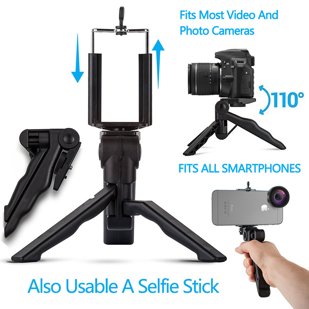 Cell Phone Camera Lens Kit by Ailuki with Professional Telephoto Lens,Wide Angle Lens+Macro Lens+Fisheye Lens, Selfie Remote Control+Tripod for iPhone Samsung Galaxy Most of Smartphone and iPad by AILUKI (Image #6)