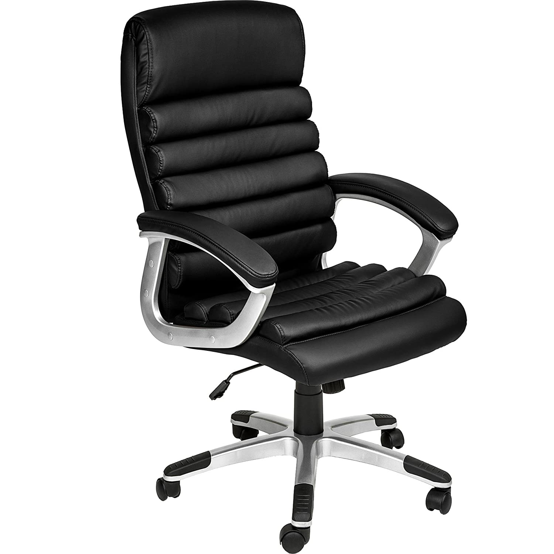 TecTake Silla de Oficina Sillon de despacho Ejecutivo con reposabrazos (Blanco | no. 402151)