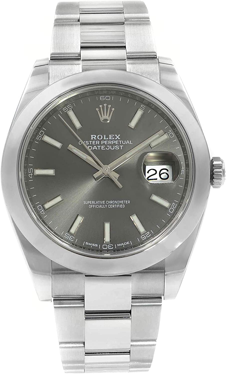 Rolex Oyster Perpetual Datejust Rhodium Dial Automatic Men's Watch 126300RSO