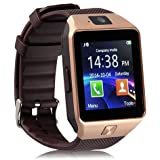 Roboster Cubee S Gold Bluetooth Smart Watch Dz09 Phone With Camera And Sim Card & Sd Card Support Fitness Band Fit Features Compatible With Andriod devices