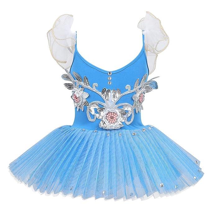 YOOJIA Vestido Tutú de Ballet Niñas Maillot Falda Tul ...