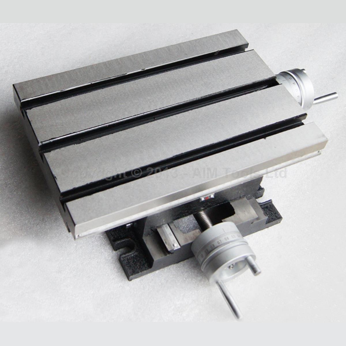 Merry Tools HK resistente taladro de cruz fija Slide Base fresador cil/índrico giratorio mesa 225 x 175 mm 402190