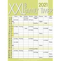 XXL Family Timer 8 2021: Familienplaner mit 8 breiten Spalten