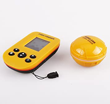 trumvee detector de peces Ultrasonido ultrasónico Sensor Sonda inalámbrica impermeable IPX4 con monitor pantalla LCD Medición Profundidad para pesca Río ...