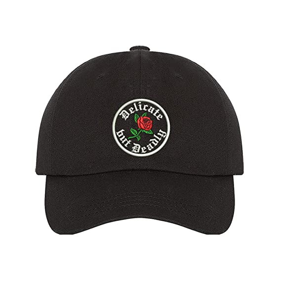 Prfcto Lifestyle Delicate But Deadly - Funny Baseball Cap - Rose ...