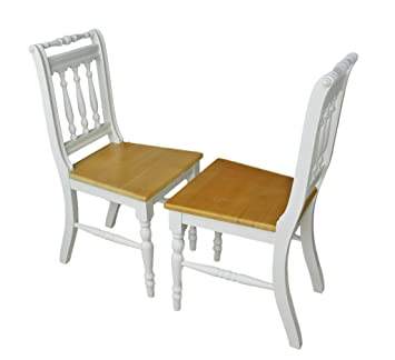 elbmöbel Stuhl Holzstuhl Küchenstuhl Massiv Weiß Braun Vollholz Holz ...