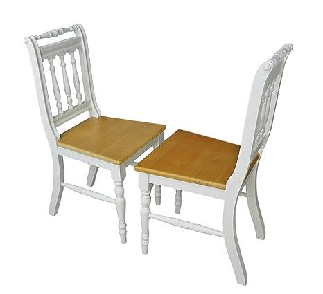 2 X SEDIA Set Sedia in legno da cucina sedia Otto massiccio legno ...