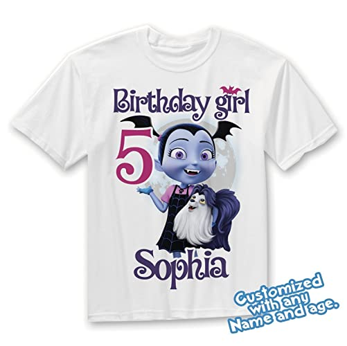 Vampirina Birthday Shirt Add Name And Age Party