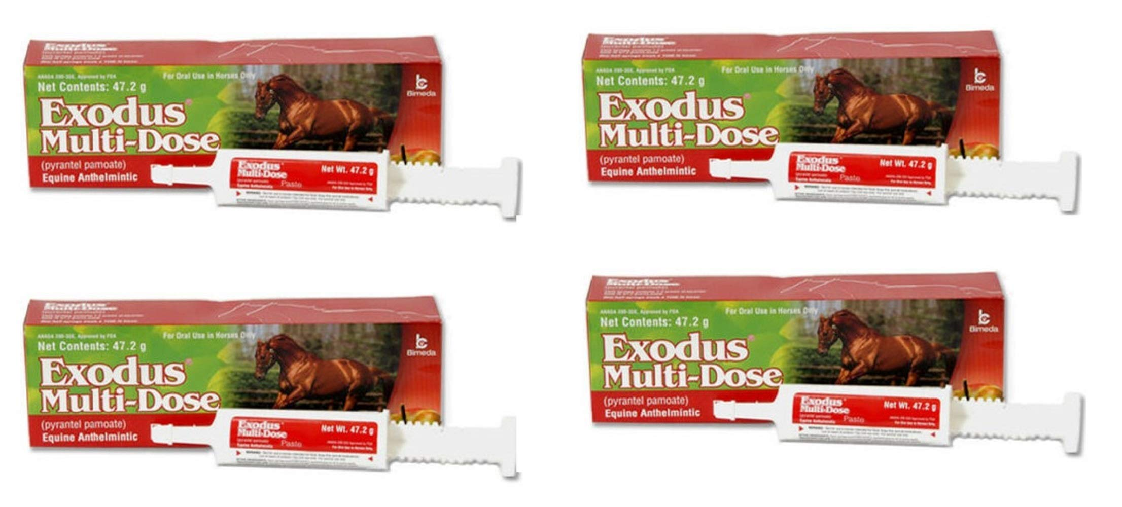 47.2gm Strongid Exodus Multi Dose Equine Paste Pyrantel Parasite Pamoate Wormer Bulk (4 Pack) by BIMEDA