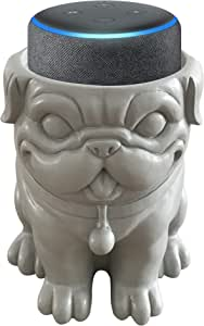 Dekodots Smart Speaker Table Stand (Dog) - Decorative Holder for Amazon Echo Dot or Google Home Mini - Portable Design, No Sound or Microphone Interference - Durable Poly-Resin