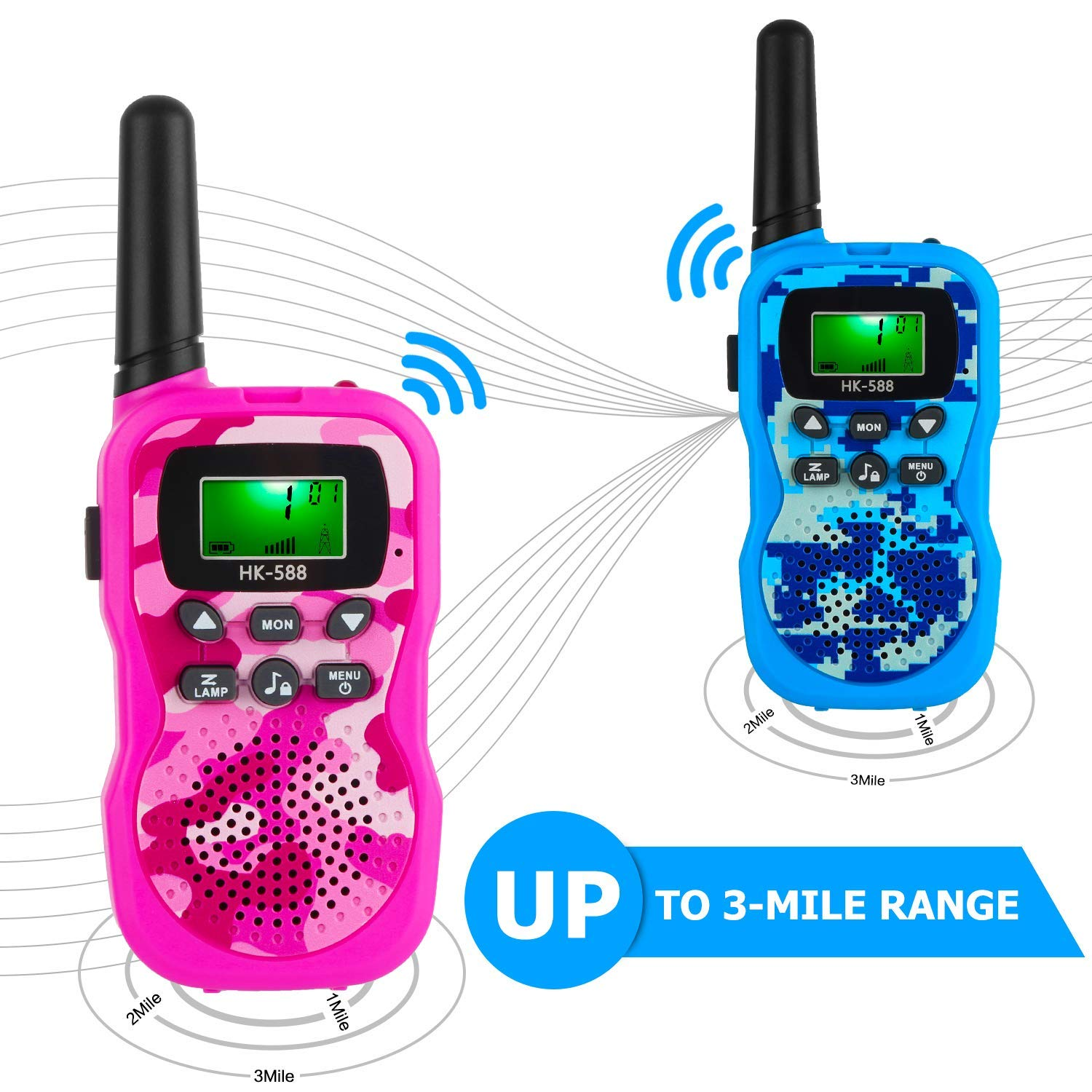 Walkie Talkies for Kids, Handheld Woki Toki Toys for Boys and Girls with Flashlight, License Free Kids Survival Gear for Hunting and Outdoor Adventure by VERDUO (Image #2)