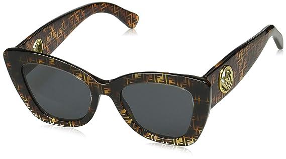 Amazon.com: Fendi FF0327/S 086 Dark Havana FF0327/S - Gafas ...