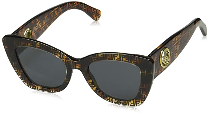 Amazon.com: Fendi FF0327/S 086 Dark Havana FF0327/S - Gafas ...