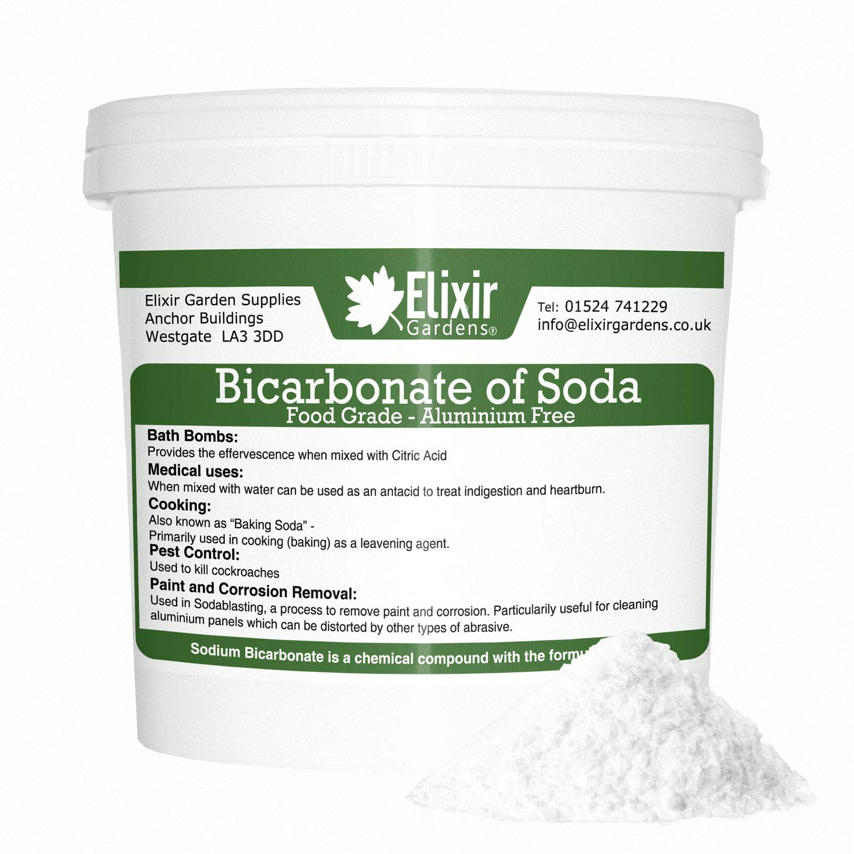 Elixir SODIUM BICARBONATE of Soda | 5KG TUB Medical Grade | Bath, Baking, Cleaning