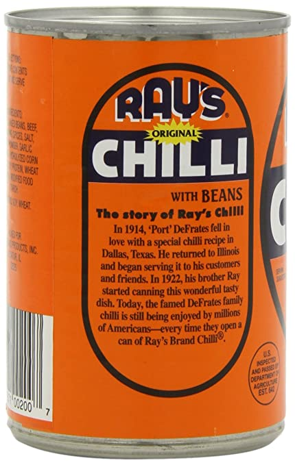 1e2f88705 Amazon.com : Ray's Chilli Original Chilli with Beans, 15-Ounce (Pack of 6)  : Chili Soups : Grocery & Gourmet Food