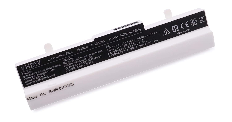 1001P 1001PQD vhbw Bater/ía 2200mAh para Ordenadores ASUS EEE PC 1005P R105D R101D 1001PXD R101PX R105 1005HAG. 1001PX 1005HA R101 R101X