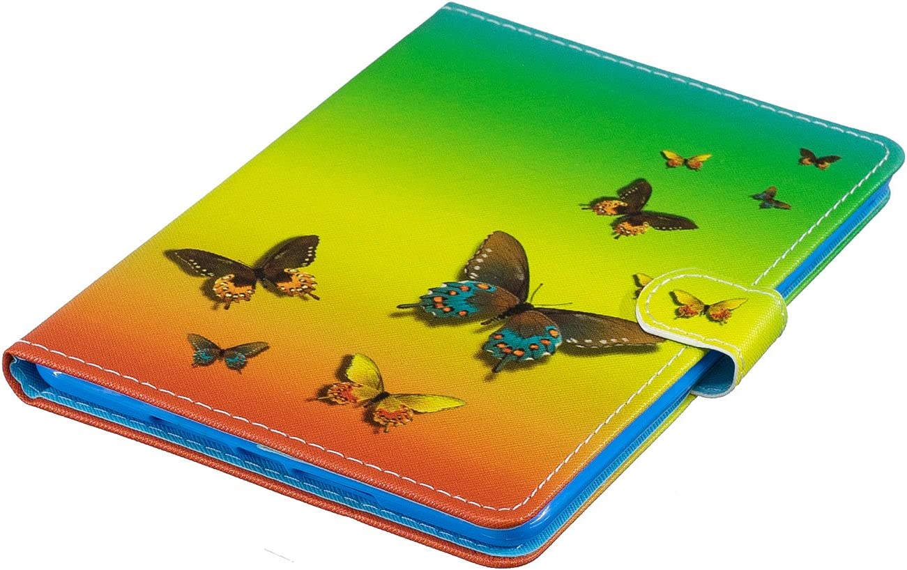 Shinyzone Slim Leather Case for iPad Mini 1,iPad Mini 2 Case,iPad Mini 3 Case,iPad Mini 4 Case,iPad Mini 5 Case,Magnetic Clasp Wallet Cover with Auto Sleep and Wake,Butterfly