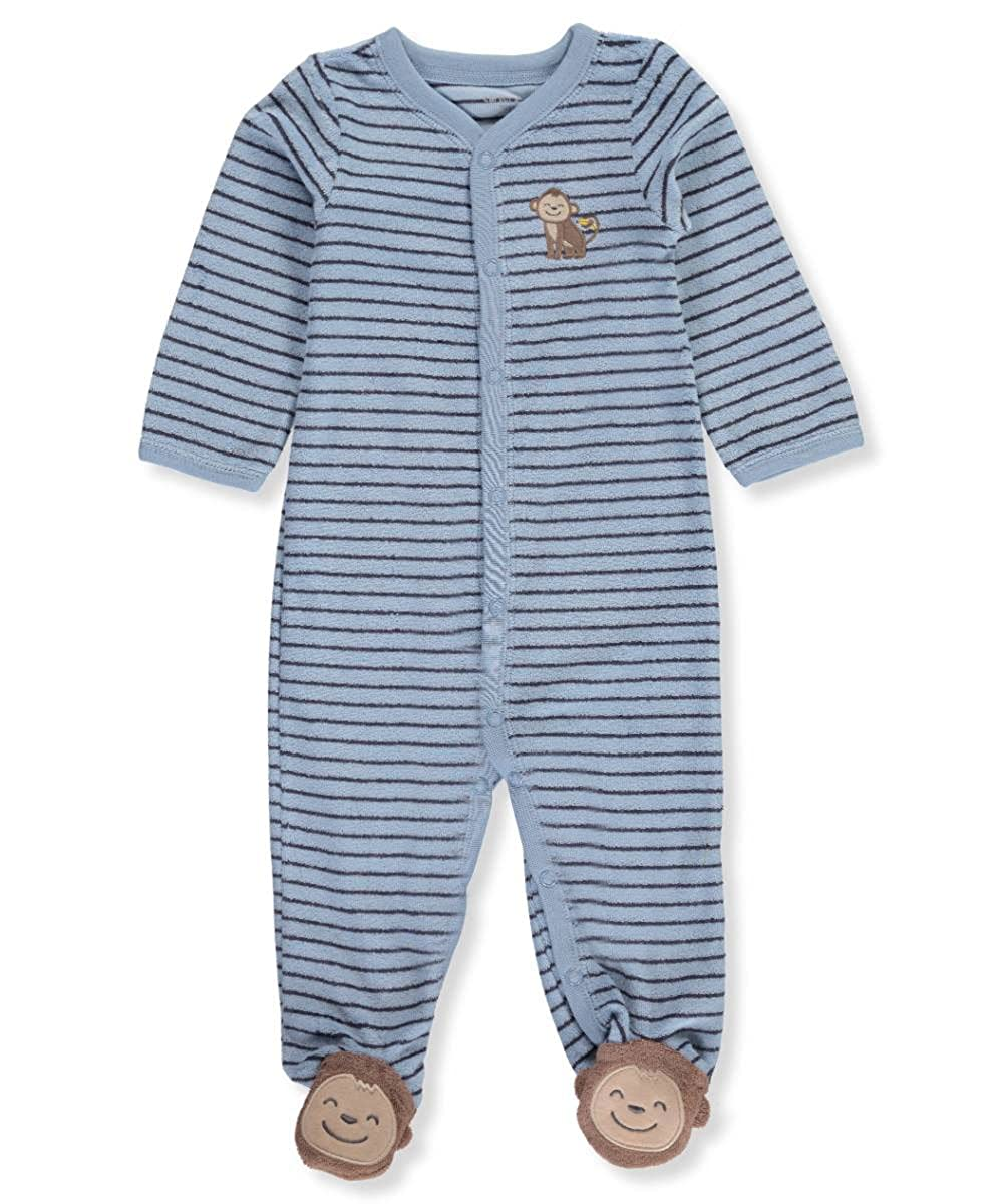 Carters Baby Boys One Piece Striped Monkey Sleep /& Play