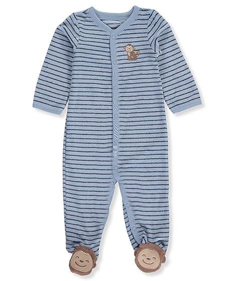ed3c1fc59 Amazon.com  Carter s Baby Boys One Piece Striped Monkey Sleep   Play ...