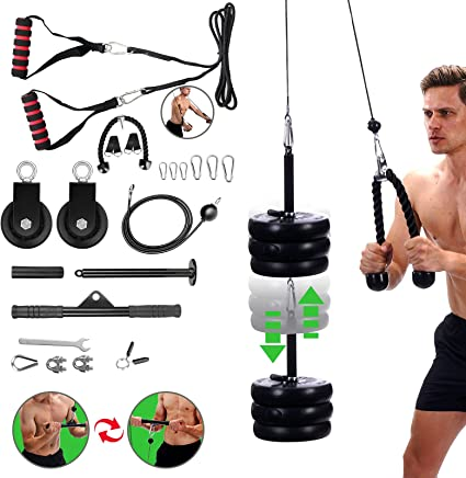 Pulley Cable Machine System Training Triceps Biceps Shoulders Chest Sets Indoor