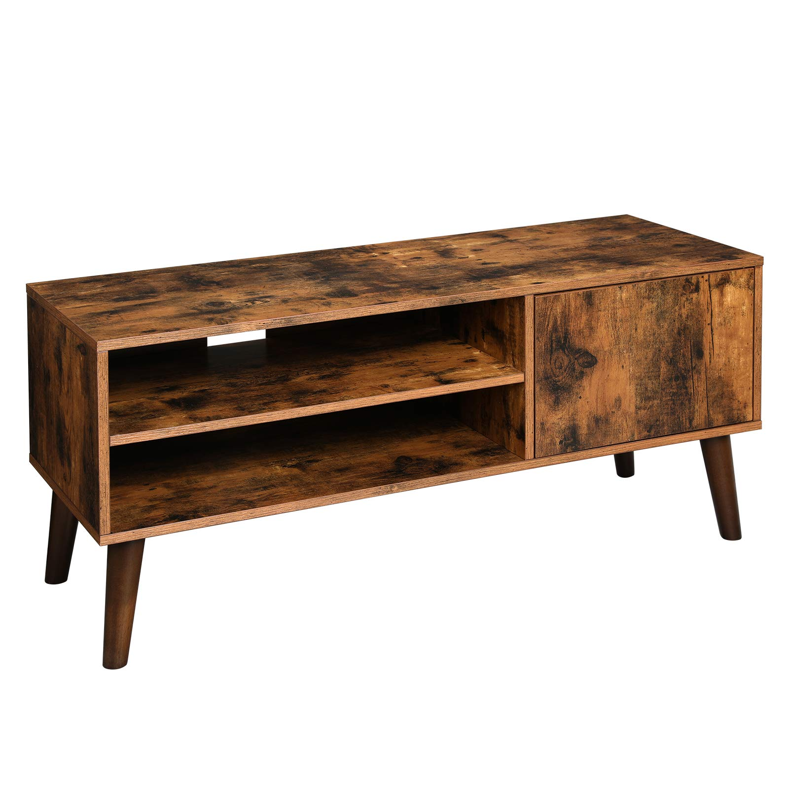 VASAGLE Retro TV Stand, TV Console, Mid-Century Modern Entertainment Center for Flat Screen TV Cable Box Gaming Consoles, in Living Room Entertainment Room Office ULTV09BX by VASAGLE