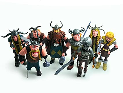 Amazon firadesign set of 8 pcs how to train your dragon action firadesign set of 8 pcs how to train your dragon action figures hiccup astrid stoick ccuart Gallery