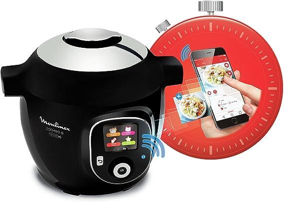 Robot de cocina Cookeo + Connect, con conexión a aplicación vía Bluetooth, con 150 recetas, 6 litros, de la marca Moulinex. Ref: YY2942FB (versión francesa): Amazon.es: Hogar