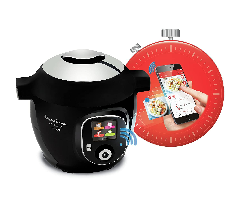 moulinex multicuiseur cookeo connect noir yy2942fb pas cher achat vente mijoteur wok. Black Bedroom Furniture Sets. Home Design Ideas