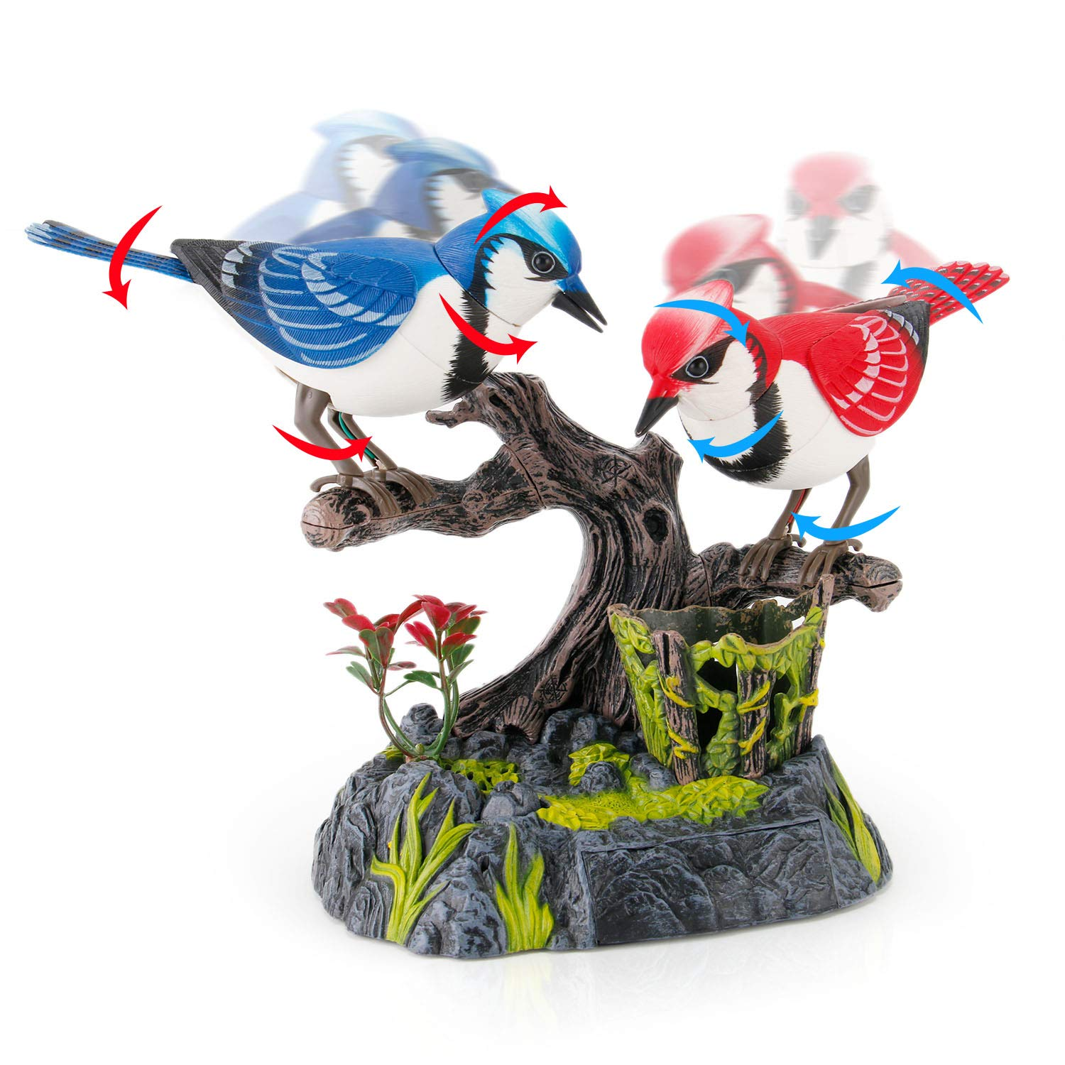 Liberty Imports Singing and Chirping Birds - Realistic Sounds and Movements (Blue Jays) by Liberty Imports (Image #4)