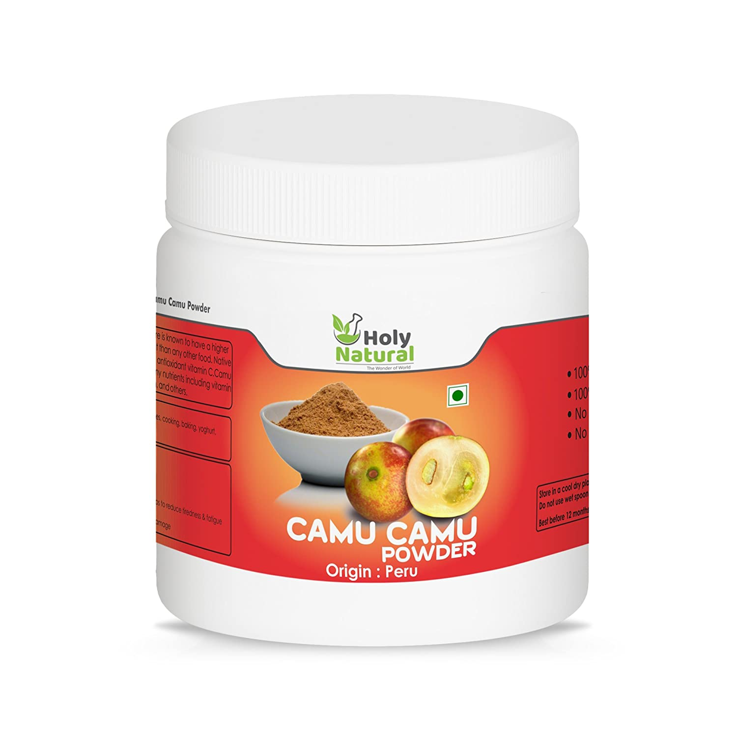 Holy Natural Camu Camu Powder 100 Gm Amazon In Grocery Gourmet Foods
