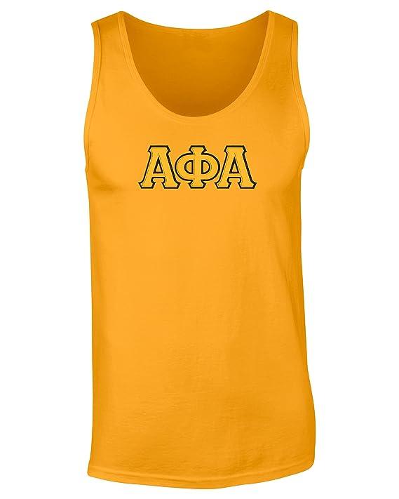 Fashion Greek Alpha Phi AlphaTwill Letter Tank Top