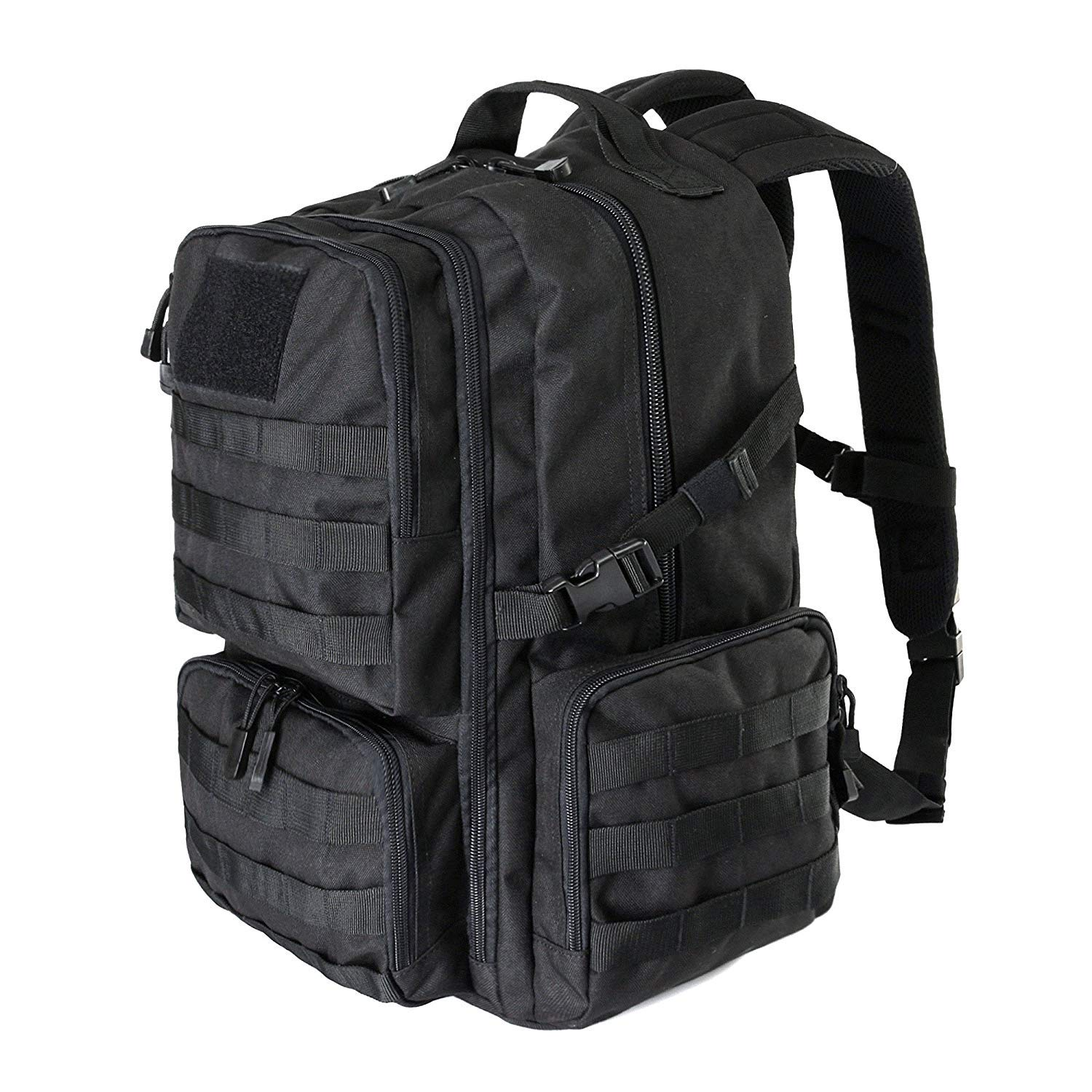 WIDEWAY Military Tactical Backpack 40L Survival Gear Backpacking Large Hydration Molle Bug Out Bag 3 Day Assault Pack Rucksacks Daypack for Outdoor Travel Hunting Camping Hiking Shooting, Black by WIDEWAY