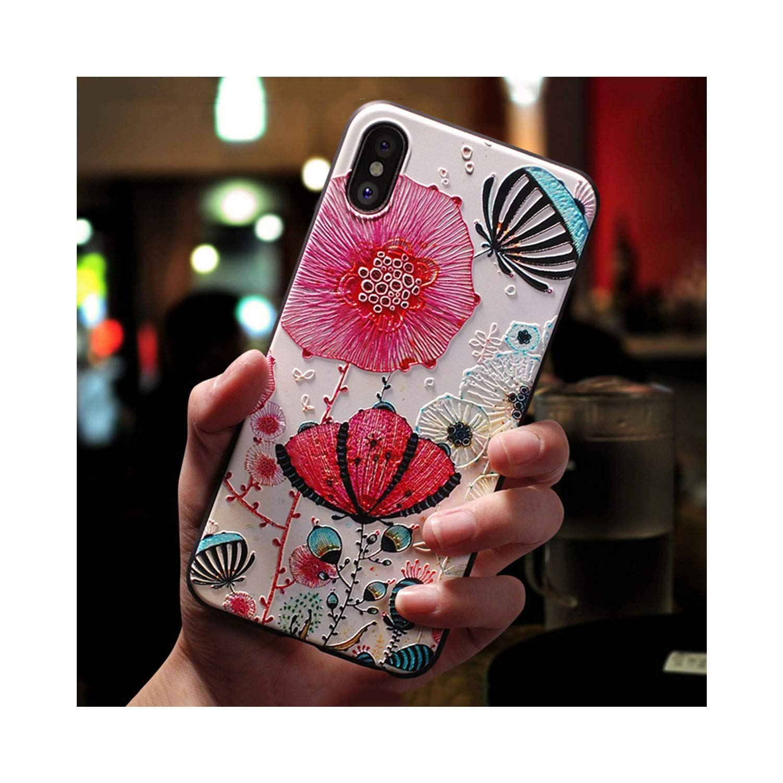 Amazon.com: 3D Emboss Flower Case for Samsung Galaxy A50 A30 ...