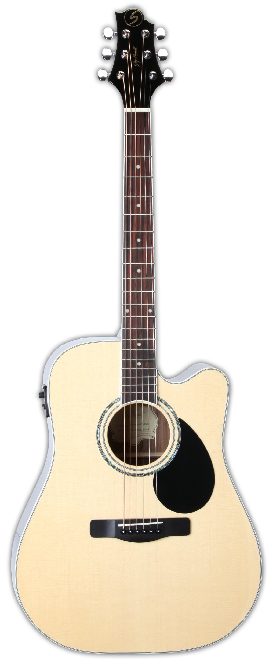 Samick Music G Series 100 GD100RSCE Dreadnought Acoustic-Electric Guitar, Natural by Samick
