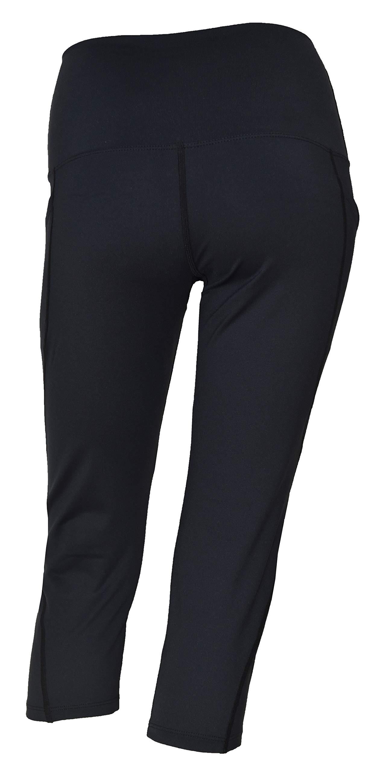 Private Island Women Swim Pockets Pants for UV Rashguard (Large, Black) by Private Island