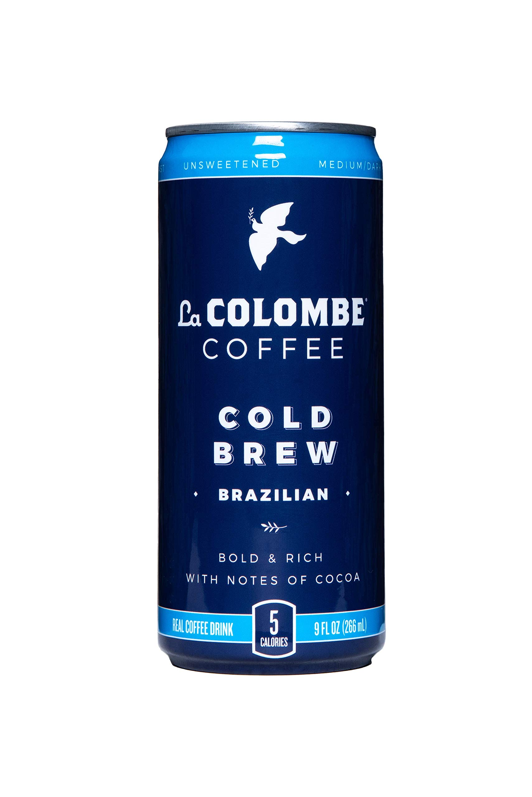 La Colombe Cold Brew Coffee - Brazilian - 9 Fluid Ounce, 16 Count - Medium Roast, Single-Origin  - Made With Real Ingredients - No Sugar Added -  Pure Black Coffee Grab And Go by La Colombe