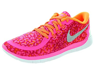 Nike Free 5.0 Print (GS) Kids Running Shoes (4Y)