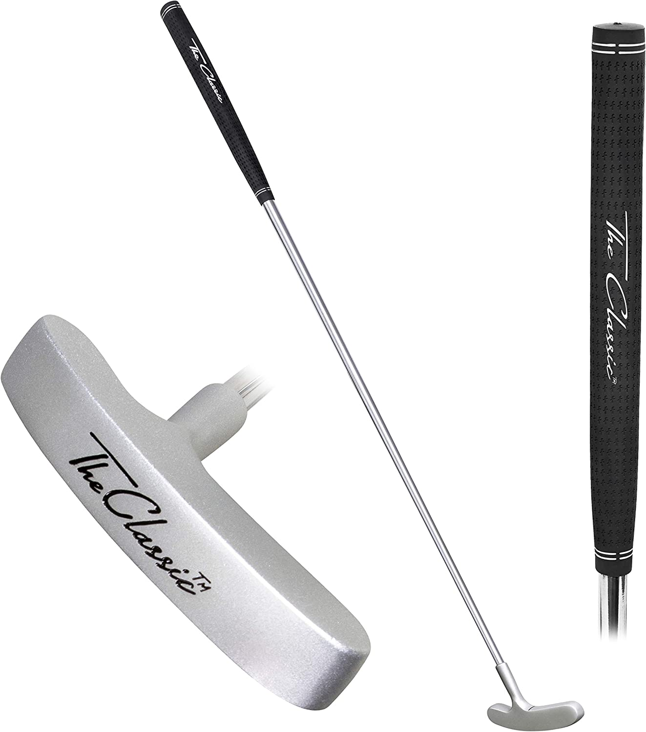 GoSports The Classic Golf Putter – Premium Grip and Putt Putt Style Two-Way Head for Right or Left Handed Golfers – 35″ Length