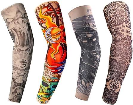 LL-COEUR Mangas Tatuadas Temporales Falso Tatuaje Protector Solar ...