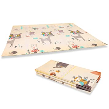 Baby Play Mat, Folding XPE Kids Play Mat, Double Sides Foam Play Mats for  Infants, Extra Large